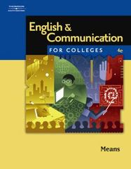 English and Communication for Colleges 4th edition 9780538730006 0538730005
