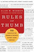 Rules of Thumb 1st Edition 9780061721830 0061721832