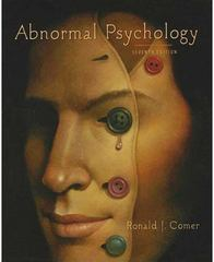 Abnormal Psychology 7th edition 9781429216319 142921631X