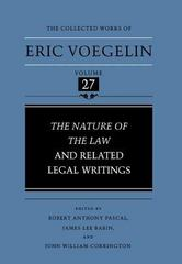 Nature of the Law and Related Legal Writings (CW27) 0 9780807116739 0807116734
