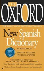 The Oxford New Spanish Dictionary 3rd Edition 9780425228609 0425228606