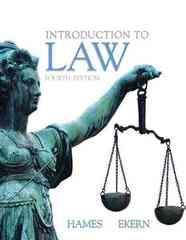 Introduction to Law 4th edition 9780135024348 013502434X