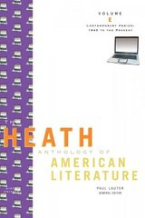 The Heath Anthology of American Literature 6th edition 9780547201801 054720180X