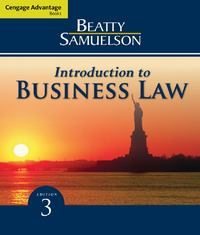 Cengage Advantage Books: Introduction to Business Law 3rd Edition 9780324826999 0324826990