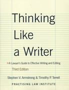 Thinking Like A Writer 3rd Edition 9781402411281 1402411286