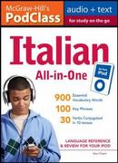 McGraw-Hill's PodClass Italian All-in-One Study Guide (MP3 Disk) 1st edition 9780071627528 0071627529