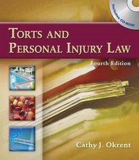 Torts and Personal Injury Law 4th edition 9781111780654 111178065X