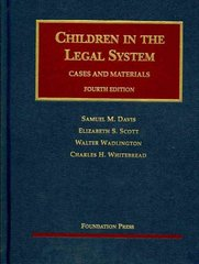 Children in the Legal System 4th edition 9781599414331 1599414333