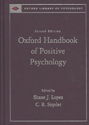 Oxford Handbook of Positive Psychology 2nd edition 9780195187243 0195187245
