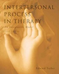 Interpersonal Process in Therapy 6th Edition 9780495604204 0495604208