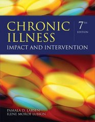 Chronic Illness 7th Edition 9780763751265 076375126X