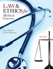 Law &amp. Ethics for Medical Careers 5th edition 9780073402062 0073402060