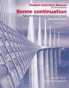 Student Activities Manual for Bonne Continuation 2nd Edition 9780135148358 0135148359