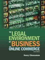 The Legal Environment of Business and Online Commerce 6th edition 9780136085683 0136085687