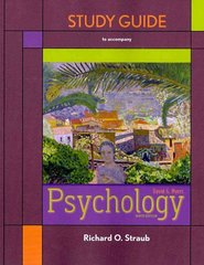 Study Guide to accompany Psychology 9th edition 9781429225342 1429225343