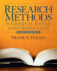 Research Methods in Criminal Justice and Criminology 8th edition 9780135043882 0135043883