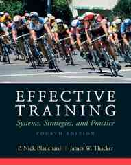 Effective Training 4th Edition 9780136078326 013607832X