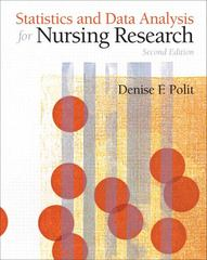 Statistics and Data Analysis for Nursing Research 2nd edition 9780135085073 0135085071