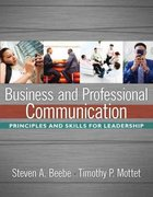 Business and Professional Communication 1st edition 9780205485918 020548591X