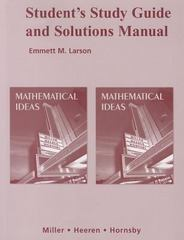 Student Study Guide and Solutions Manual for Mathematical Ideas 11th edition 9780321369710 0321369718