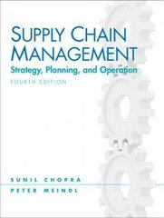 Supply Chain Management 4th edition 9780136080404 0136080405