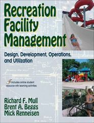 Recreation Facility Management 1st Edition 9780736070027 0736070028