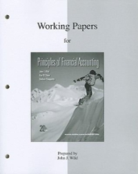 Working Papers (print) to accompany Principles of Financial Accounting (CH 1-17) 19th edition 9780073366340 007336634X