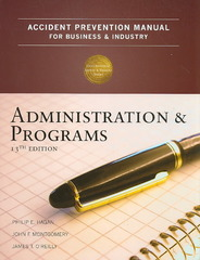 Accident Prevention Manual for Business and Industry 13th Edition 9780879122805 0879122803