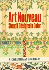 Art Nouveau Stencil Designs in Color 0 9780486472164 0486472167