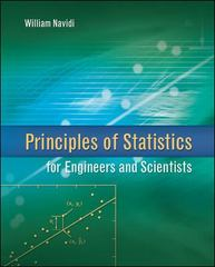 Principles of Statistics for Engineers and Scientists 0th edition 9780073376349 0073376345