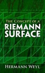 The Concept of a Riemann Surface 3rd edition 9780486470047 0486470040