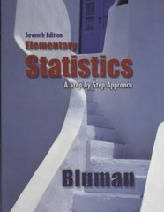 Elementary Statistics: A Step By Step Approach 7th edition 9780077302351 0077302354