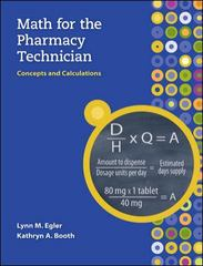 Math for the Pharmacy Technician 0th edition 9780073373966 0073373966