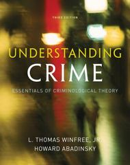 Understanding Crime 3rd Edition 9780495600831 0495600830