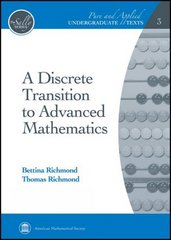 A Discrete Transition to Advanced Mathematics 1st Edition 9780821847893 0821847899