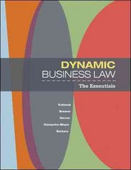 Dynamic Business Law: The Essentials 1st edition 9780073377681 0073377686