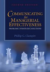 Communicating for Managerial Effectiveness 4th edition 9781412970884 1412970881