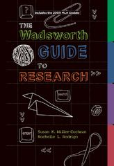 The Wadsworth Guide to Research, 2009 MLA Update Edition 1st edition 9780495799665 0495799661