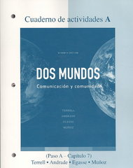 Workbook/Lab Manual Part A to accompany Dos mundos 7th Edition 9780077304737 007730473X