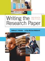 Writing the Research Paper 7th edition 9780495799658 0495799653
