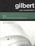 Gilbert Law Summaries on Torts 24th edition 9780314181145 0314181148