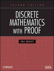 Discrete Mathematics with Proof 2nd edition 9780470457931 0470457937