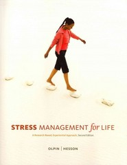 Stress Management for Life with Premium Web Site 2nd Edition 9780324599435 0324599439