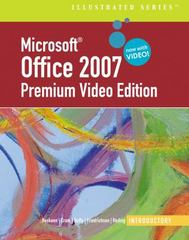 Microsoft  Office 2007 Illustrated 1st edition 9780324827088 0324827083