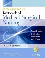 Brunner and Suddarth's Textbook of Medical Surgical Nursing 12th edition 9781451125306 1451125305