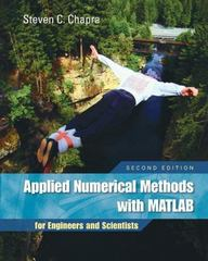 Applied Numerical Methods W/MATLAB 3rd edition 9780077418359 0077418352