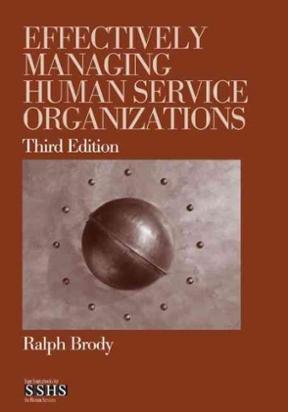 effectively managing human service organizations pdf