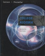 College Algebra 7th edition 9780618643103 0618643109