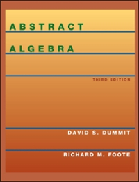 Abstract Algebra (3rd) edition 0471433349 9780471433347