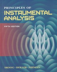 Principles of Instrumental Analysis 5th edition 9780030020780 0030020786